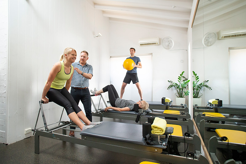clinical pilates class at wisdom physiotherapy Perth